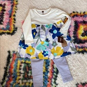 Tea collection dress and leggings 9-12 months